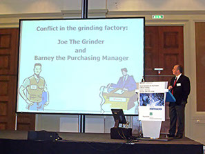 Dr. Badger at the High Speed Steel Forum Conference in Aachen, Germany.